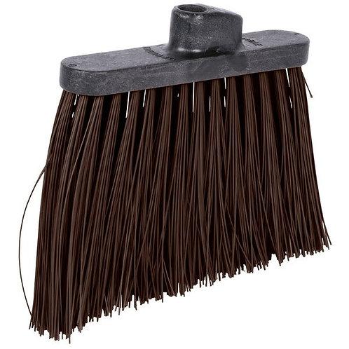 "Carlisle Duo-Sweep 12"" Heavy Duty Angled Broom Head w/ Brown Bristles"
