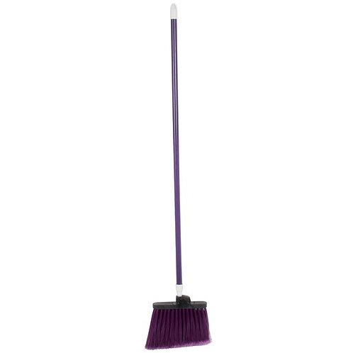 """Carlisle Sparta Spectrum Duo-Sweep 12"""" Angled Broom,Purple Bristles & 48"""" Handle"""