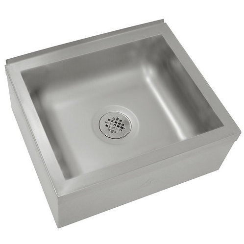 """Advance Tabco 24"""" x 24"""" x 12"""" Stainless Steel Floor Mounted Mop Sink"""