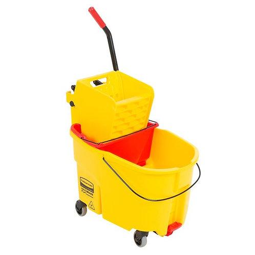 Rubbermaid WaveBrake 44Qt Mop Bucket,Side Press Wringer & Dirty Water Bucket