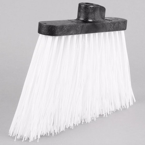 "Carlisle Duo-Sweep 12"" Medium Duty Angled Broom Head w/ White Bristles"
