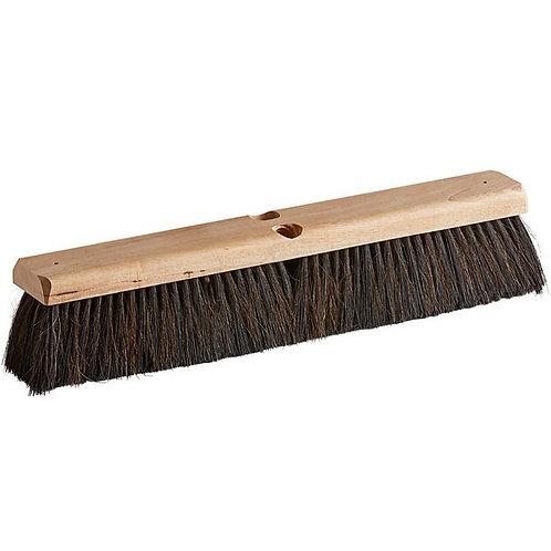 "Carlisle Flo-Pac 18"" Hardwood Push Broom Head,Horsehair/Poly Bristle Blend"