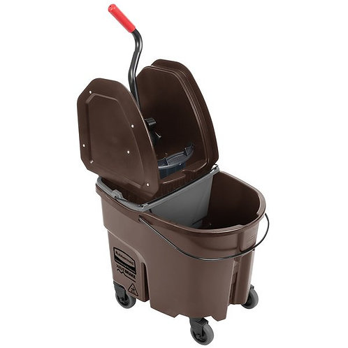 Rubbermaid WaveBrake 35Qt Mop Bucket,Down Press Wringer & Dirty Water Bucket