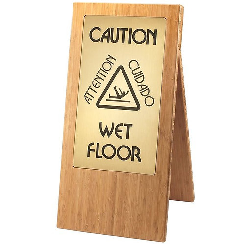 Cal-Mil Bamboo WET FLOOR Sign