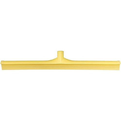 "Carlisle Sparta Spectrum 24"" Yellow Single Blade Rubber Squeegee,Plastic Frame"