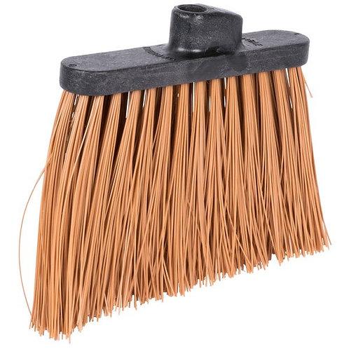 "Carlisle Duo-Sweep 12"" Heavy Duty Angled Broom Head w/ Tan Bristles"