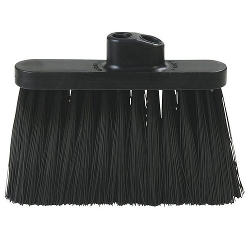 "Carlisle Duo-Sweep 13"" Warehouse Broom Head w/ Black Bristles"
