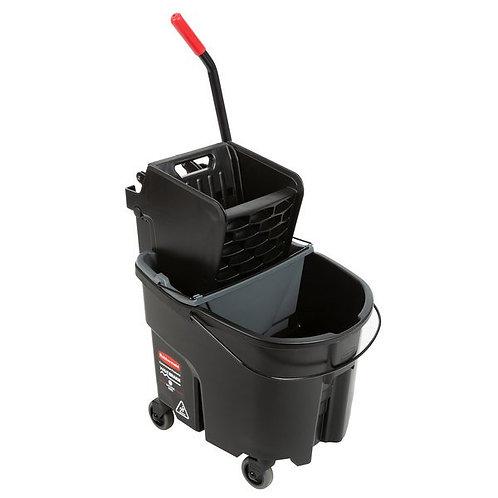 Rubbermaid Executive WaveBrake 35Qt Bucket,Side Press Wringer/Dirty Water Bucket