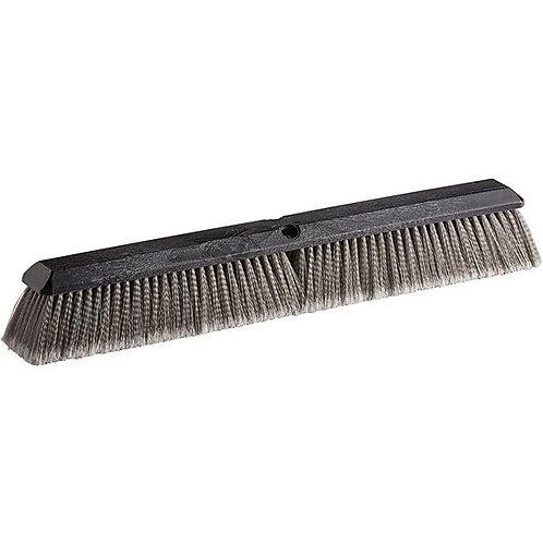 "Carlisle Flo-Pac 24"" Plastic Push Broom Head,Gray Polypropylene Bristles"