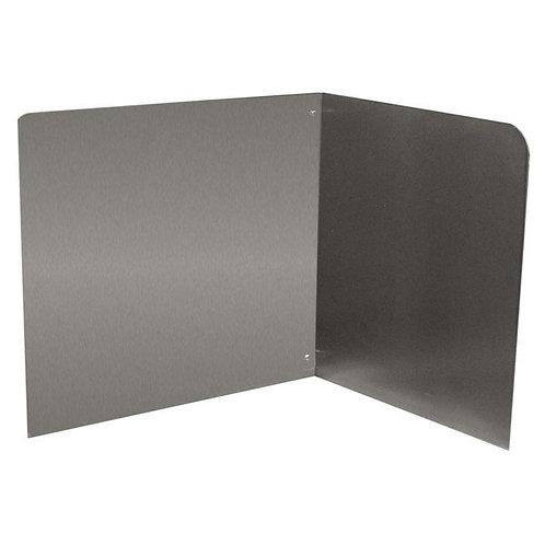 "Advance Tabco 16"" High Stainless Steel Mop Sink Backsplash & Right Side Splash"