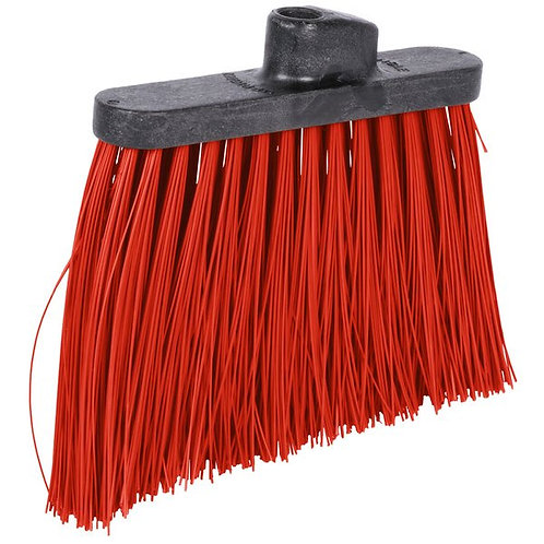 "Carlisle Duo-Sweep 12"" Heavy Duty Angled Broom Head w/ Red Bristles"