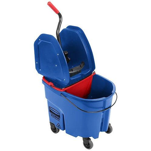 Rubbermaid WaveBrake 35Qt Mop Bucket,Down Press Wringer & Dirty Water Bucket