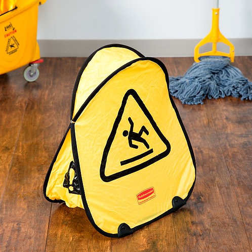 """Rubbermaid 20"""" Yellow Wet Floor Sign Folding Safety Cone"""