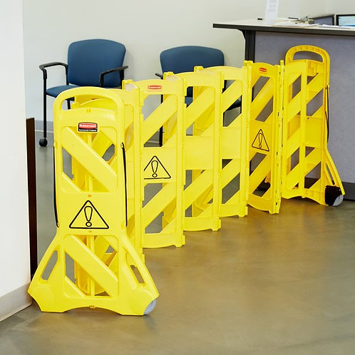Rubbermaid Yellow Portable Safety/Wet Floor Barrier
