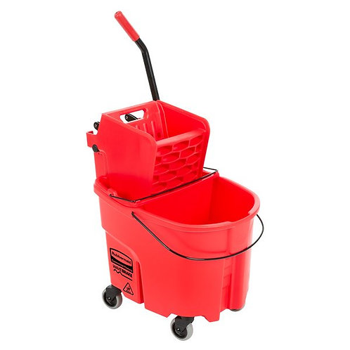 Rubbermaid WaveBrake 35Qt Mop Bucket,Side Press Wringer & Dirty Water Bucket