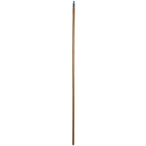 "Scrubble by ACS 60"" Metal Threaded Wooden Broom Handle"