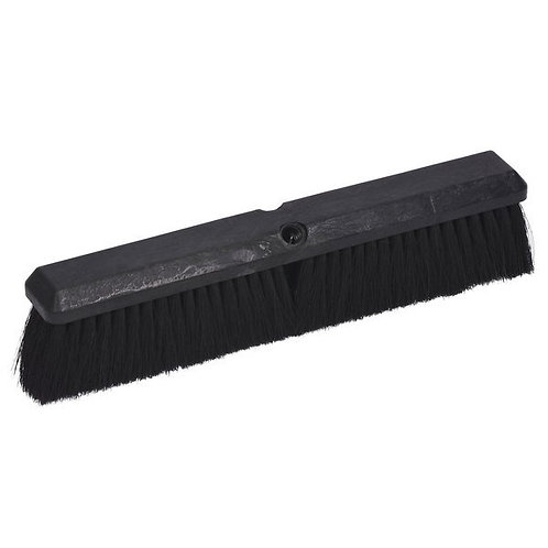 "Continental 18"" Plastic Push Broom Head w/ Tampico Bristles"