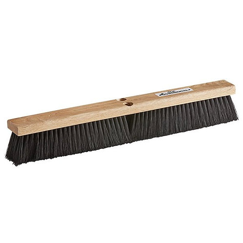 "Continental 24"" Hardwood Push Broom Head w/ Polypropylene Bristles"