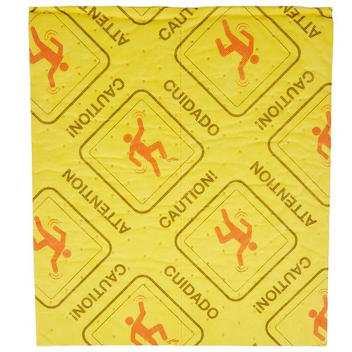 """Spilfyter 18""""16"""" Universal High Visibility Light Weight Absorbent Pad - 25/Pack"""