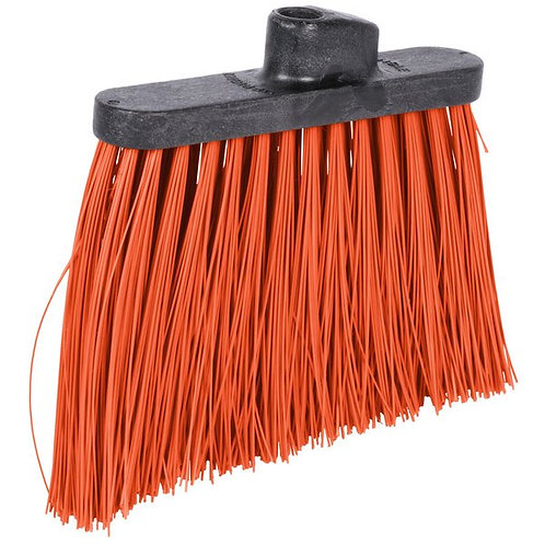 "Carlisle Duo-Sweep 12"" Heavy Duty Angled Broom Head w/ Orange Bristles"