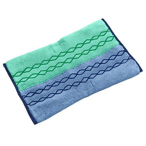 """Rubbermaid HYGEN Pulse 18"""" Green/Blue Double Sided Wet & Dry Microfiber Mop Pad"""