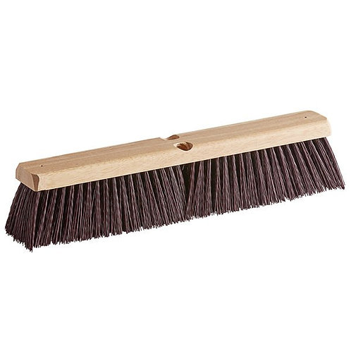 "Carlisle Flo-Pac 18"" Hardwood Push Broom Head,Maroon Crimped Poly Bristles"