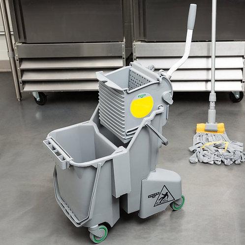 Unger 8 Gallon Gray Mop Bucket w/ Side-Press Wringer