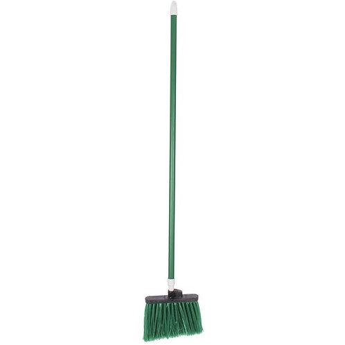 "Carlisle Spectrum Duo-Sweep 12"" Angled Broom,Green Bristles & 48"" Handle"