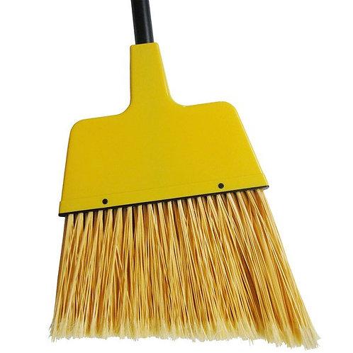 "Continental 12"" Angled Broom w/ Yellow Flagged Bristles & 48"" Handle"