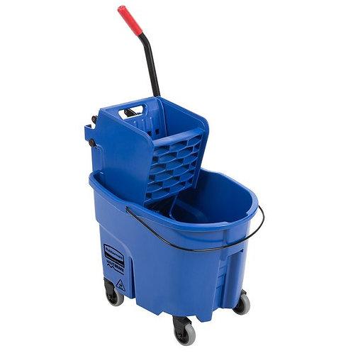 Rubbermaid WaveBrake� 35 Qt. Blue Mop Bucket w/ Side Press Wringer