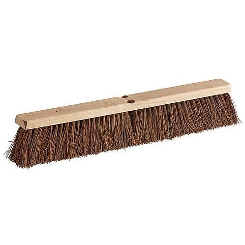 "Carlisle Flo-Pac 24"" Hardwood Push Broom Head w/ Heavy Palmyra Bristles"