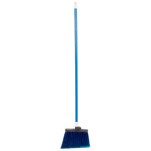 "Carlisle Sparta Duo Sweep 56"" Flagged Blue Angle Broom"