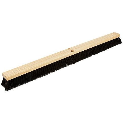 """Carlisle Flo Pac 36"""" Push Broom Head w/ Black Bristles"""