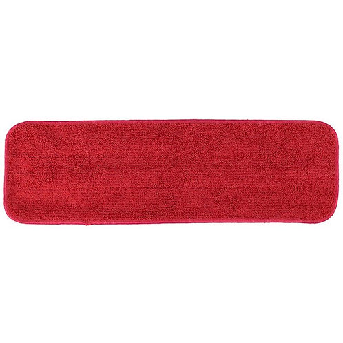 """Knuckle Buster 18"""" Red Microfiber Wet Velcro� Flat Mop Pad"""