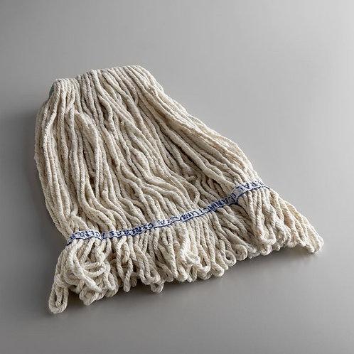 "Continental 24 oz. Loop End Natural Cotton Mop Head w/ 1 1/4"" B&"