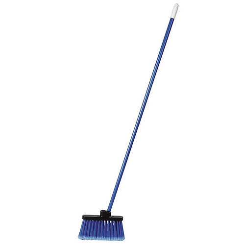 """Carlisle Duo-Sweep 11"""" Light Industrial Broom,Blue Bristles & 48"""" Handle"""