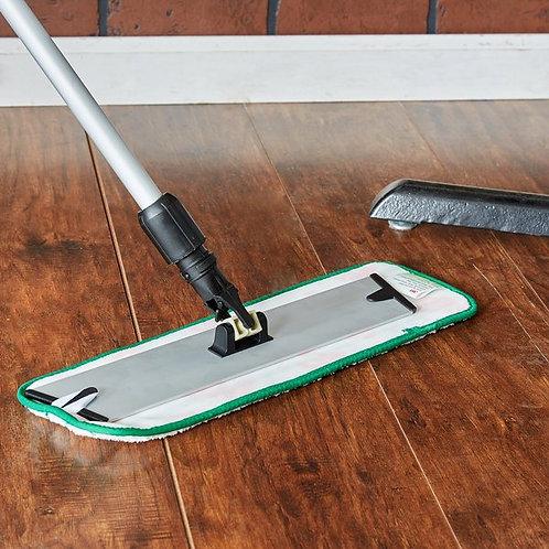 "3M 18"" Green Easy Scrub Flat Mop Pad - 10/Pack"