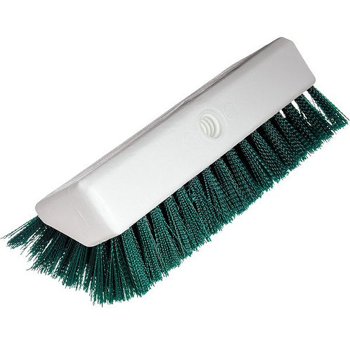 "Carlisle Sparta Spectrum 10"" Hi-Lo Green Floor Scrub Brush"