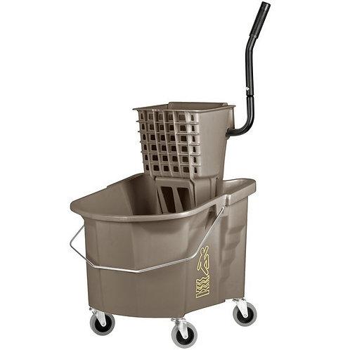 Continental 35 Qt. Bronze Splash Guard Mop Bucket,Side-Press Wringer