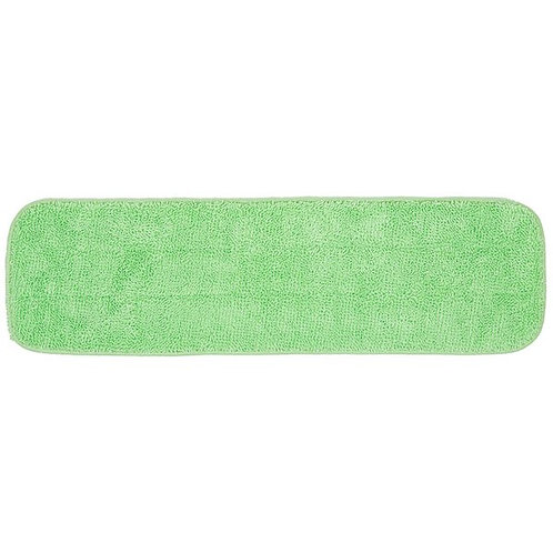 "Knuckle Buster 18"" Green Microfiber Wet Velcro� Flat Mop Pad"