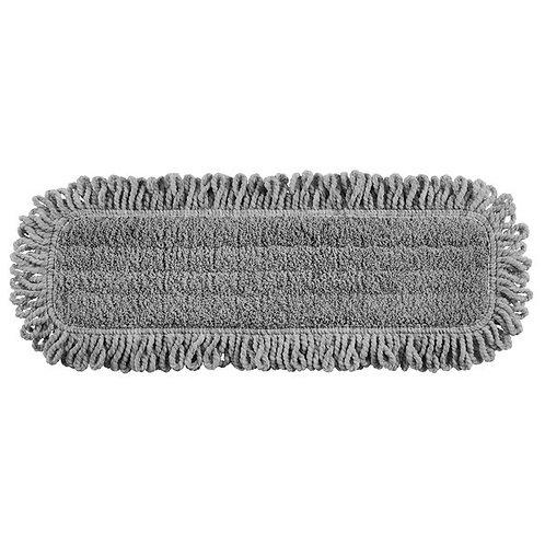 "Rubbermaid HYGEN Pulse Executive Series 18"" Gray Microfiber Fringed Dust Mop Pad"