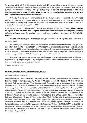 CARTA PUBLICA AL GOBIERNO DE ESPAÑA SOBR