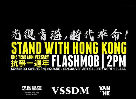 6.12 Stand with Hong Kong Rally 並肩支持香港反對國安法集會