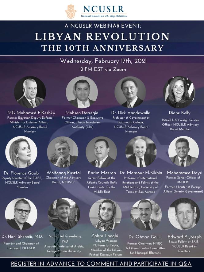 NCUSLR Webinar: Libyan Revolution - The 10th Anniversary