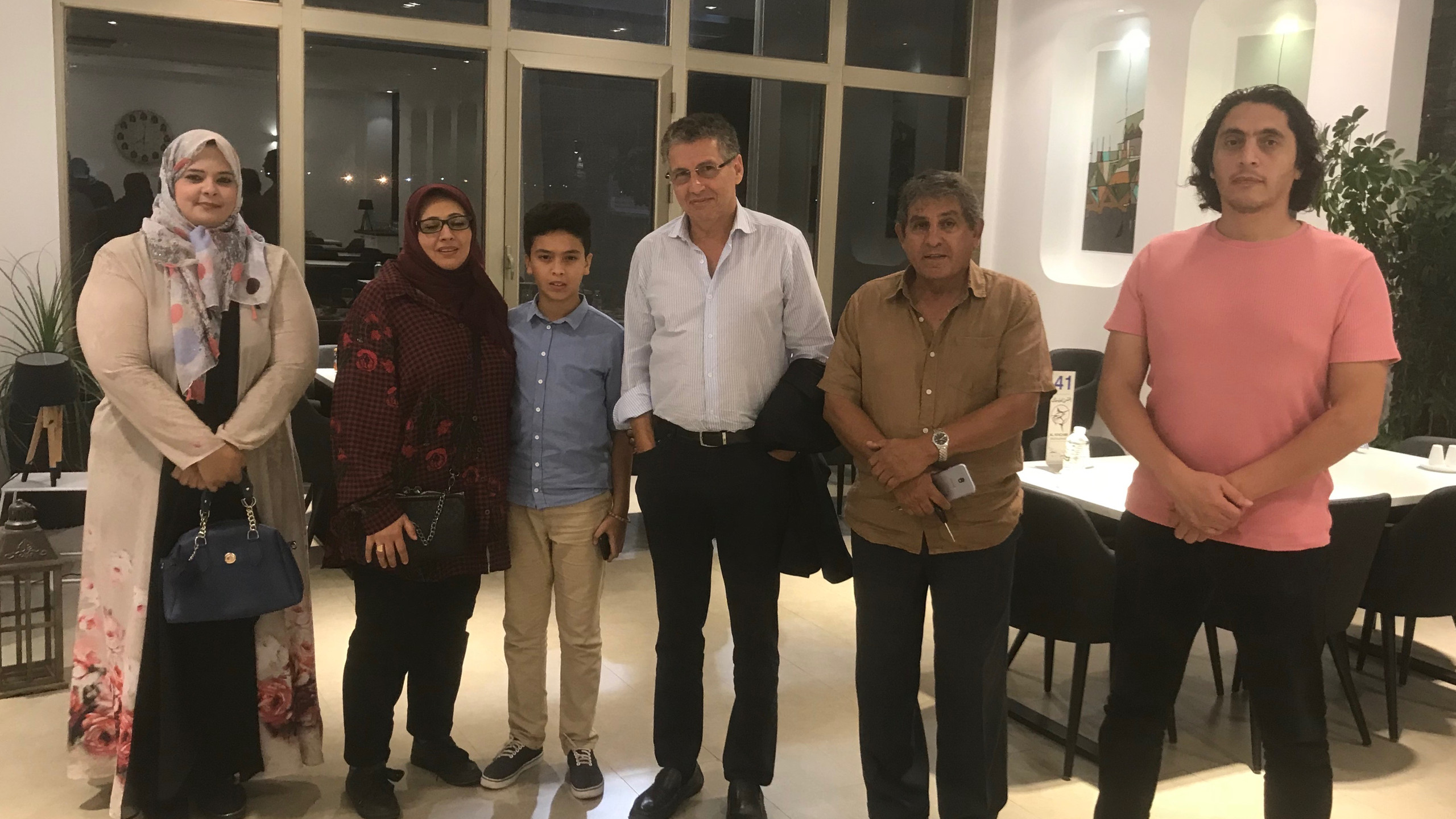 Dinner with the medical directors of the Benghazi Medical Center