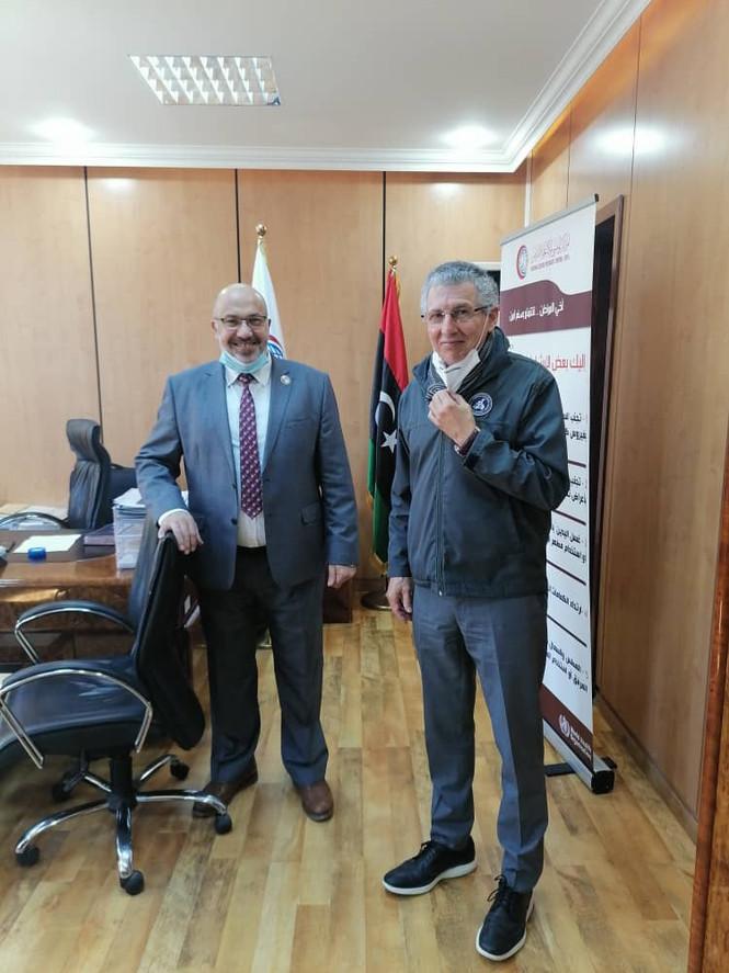 NCUSLR president Dr. Hani Shennib meets in Tripoli with Libyan CDC Dr. Bader Eldin Najar