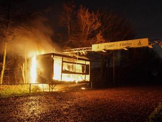 Juryhok volledig uitgebrand.