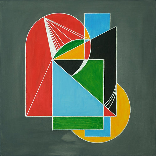 """""""Virgo"""" - painting in the style of cubism"""
