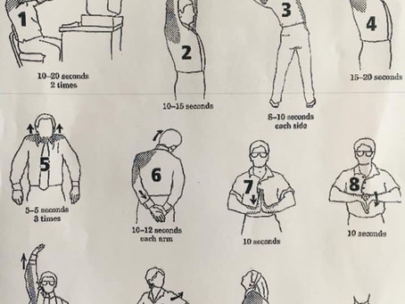 ❗️Le bien-être au travail commence par une bonne posture et de bons exercises d'étirements 🙃