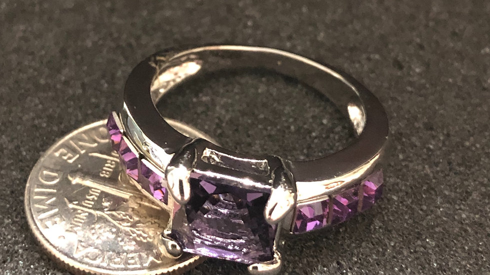 Purple Silver Ring (7.5)